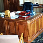 Professional Office Desk with Wood Panels